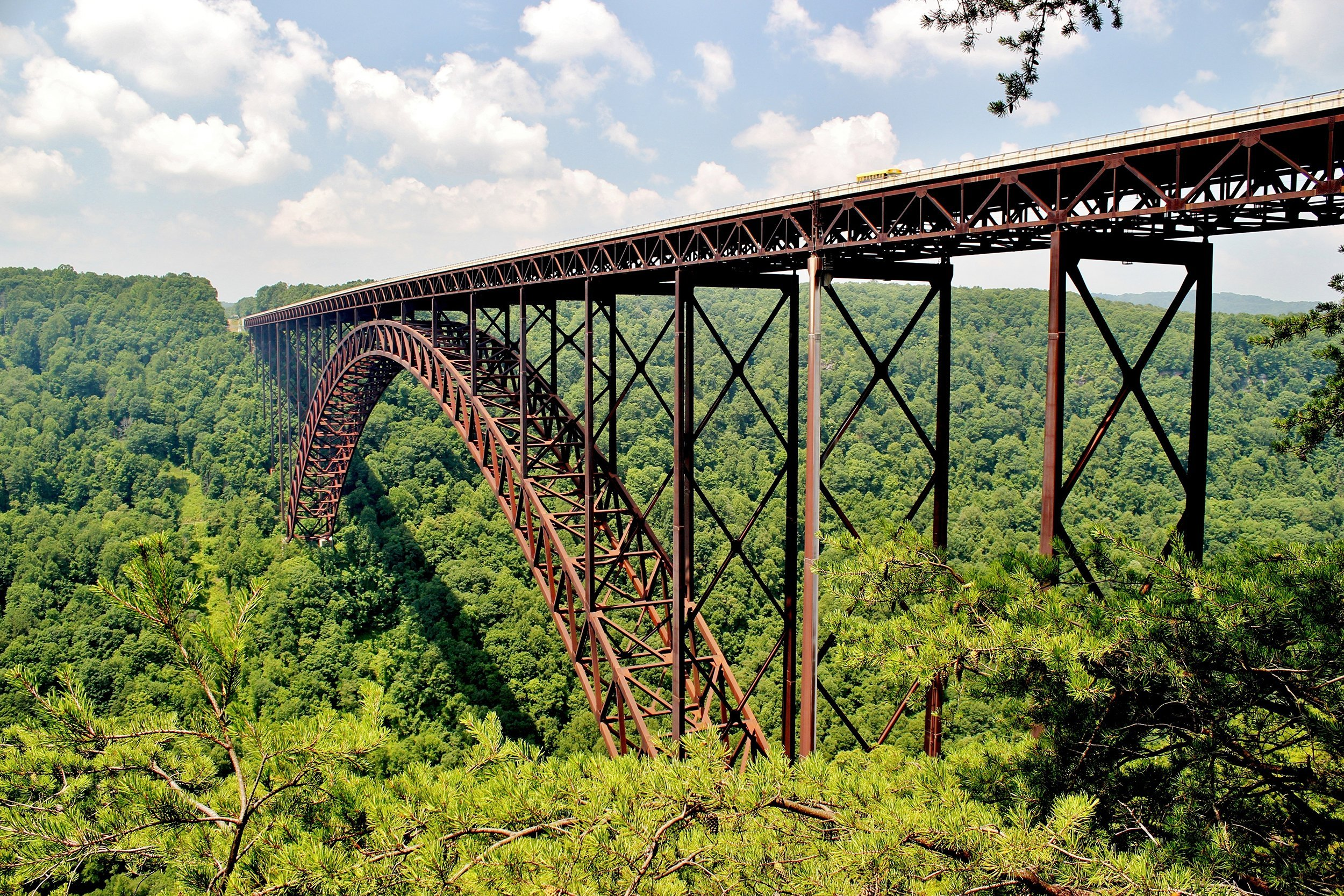 Slide 50 of 52:  Where: New River Gorge National River Distance: 2.7-mile loop Must see: The overlook at Diamond Point provides great views of the West Virginia vista. But don't be afraid to look down the 1,000-foot cliff — the beauty of the New River Gorge below beats out any view.