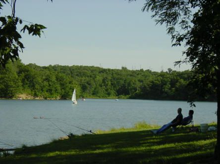 Slide 17 of 52:  Where: Shawnee Mission Park Distance: 6.5-mile loop Must see: This stunning trail boasts a beautiful dammed lake – Lake Lenexa – and is great for hiking, biking or horseback riding.
