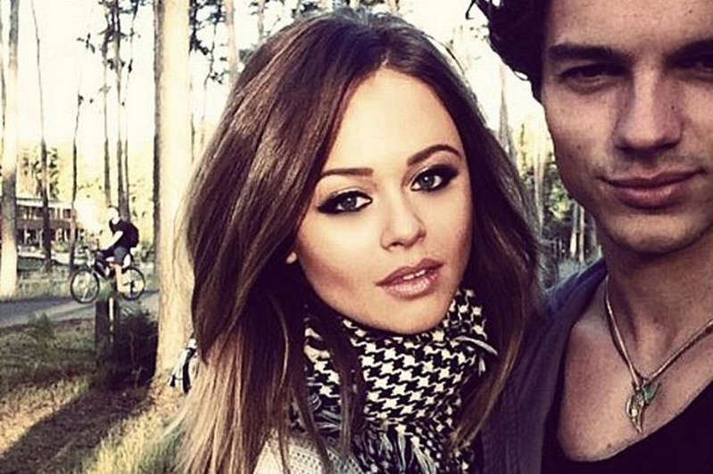 Emily Atack et al. posing for the camera: Emily and Jack Vacher dated for five years