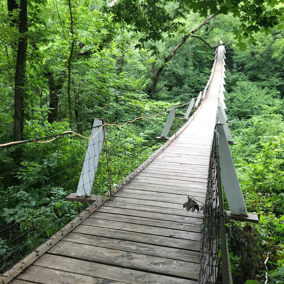 Slide 16 of 51: Swinging BridgeIf you're not afraid of heights, this Swinging Bridge in Columbus Junction is 262 feet long and was originally built in 1886 (rebuilt in 1922). It's an ideal destination for a hike that won't take all day.