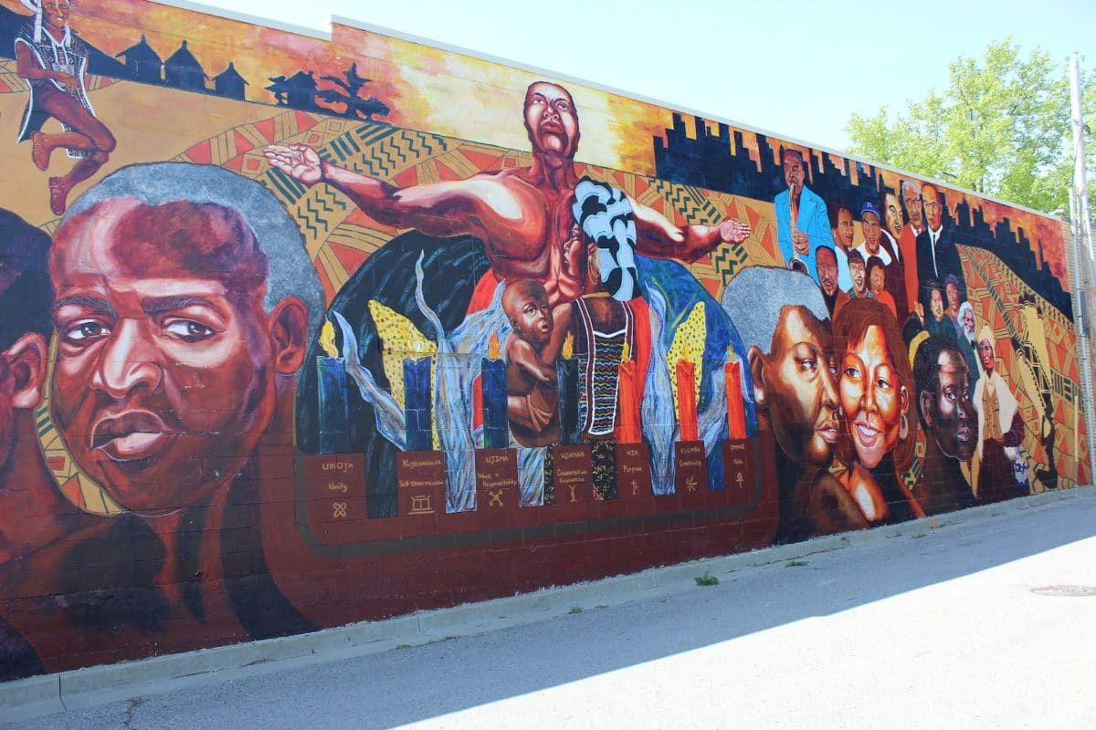 Slide 17 of 51: Kansas Avenue of MuralsFor art lovers, Kansas Avenue of Murals displays the city's best art. The eight murals cover four blocks in the historic downtown area tell stories of the culture and history of Kansas City.