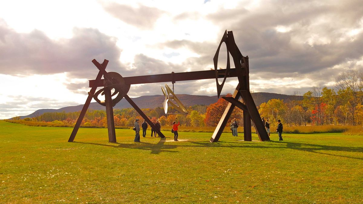 Slide 33 of 51: Storm King Art CenterSeen in movies and television shows (Netflix's Master of None), Storm King Art Center is named after a nearby mountain—Storm King Mountain. Located in Mountainville, New York, this open-air museum arguably contains the largest collection of contemporary outdoor sculptures in the country. Visitors get creative with taking photos from playing with perspective with the giant sculptures to a selfie on the mirrored picket fence.