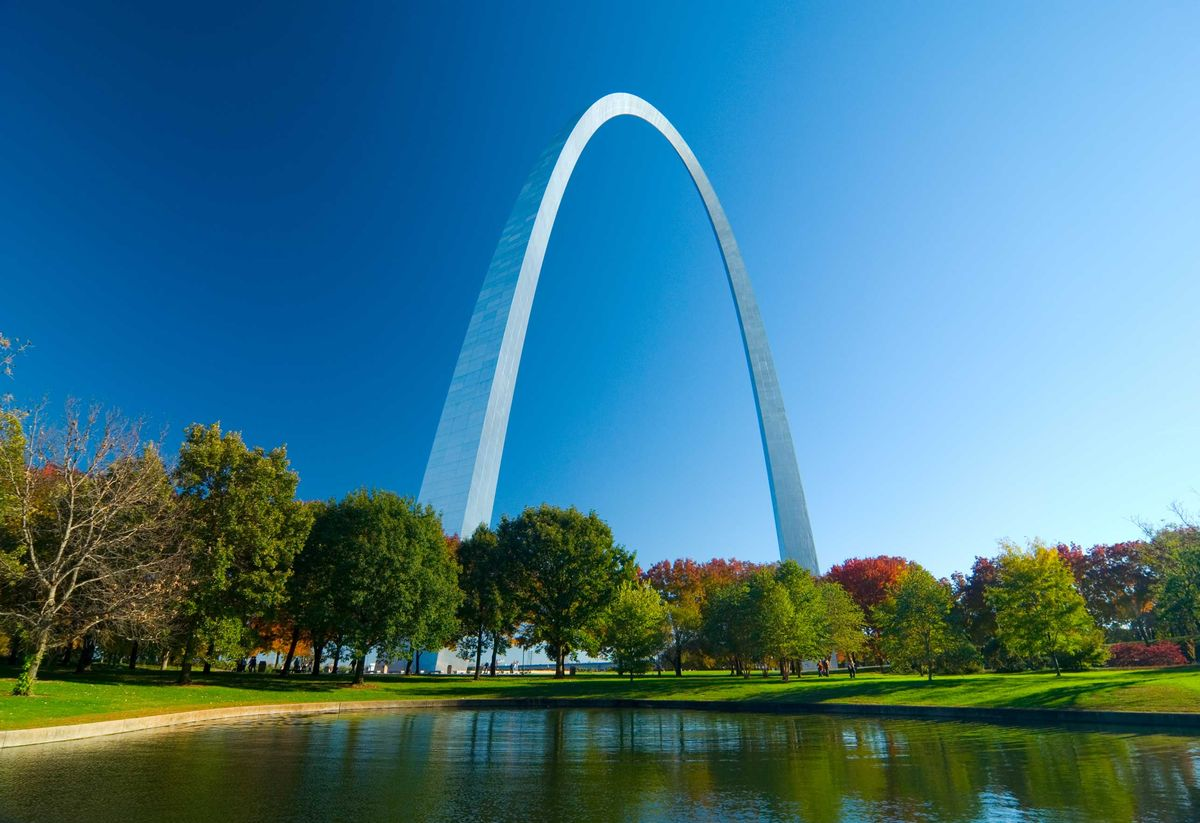 Slide 26 of 51: The Gateway ArchThe Gateway Arch in St. Louis, Missouri, has broken many world records. This 630 foot monument, built of stainless steel in the shape of a weighted catenary arch, stands as the world's tallest arch and the tallest man-made monument in the Western Hemisphere.