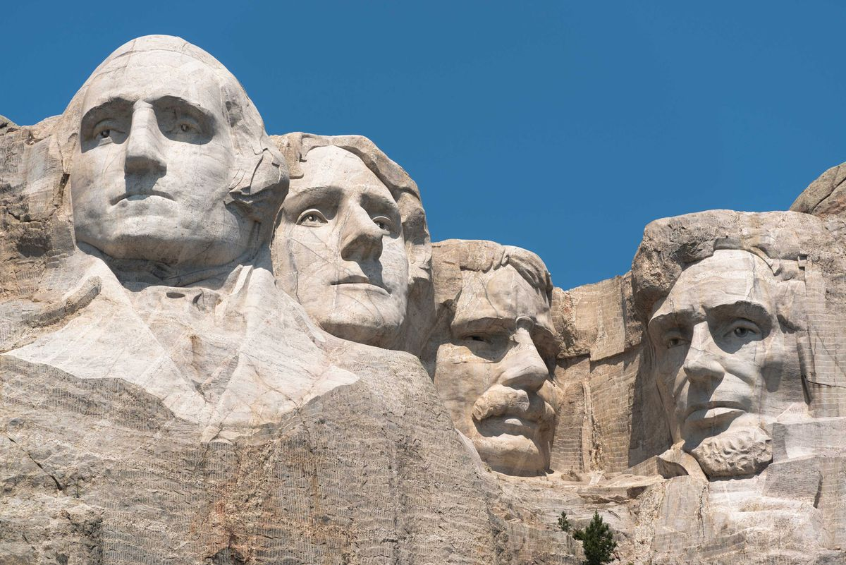 Slide 42 of 51: Mount Rushmore Mount Rushmore National Memorial in Keystone, South Dakota, should be on everyone's bucket list. Featuring 60 foot tall heads of our Presidents George Washington, Thomas Jefferson, Theodore Roosevelt, and Abraham Lincoln, it's a sight you need to see at least once in your lifetime.