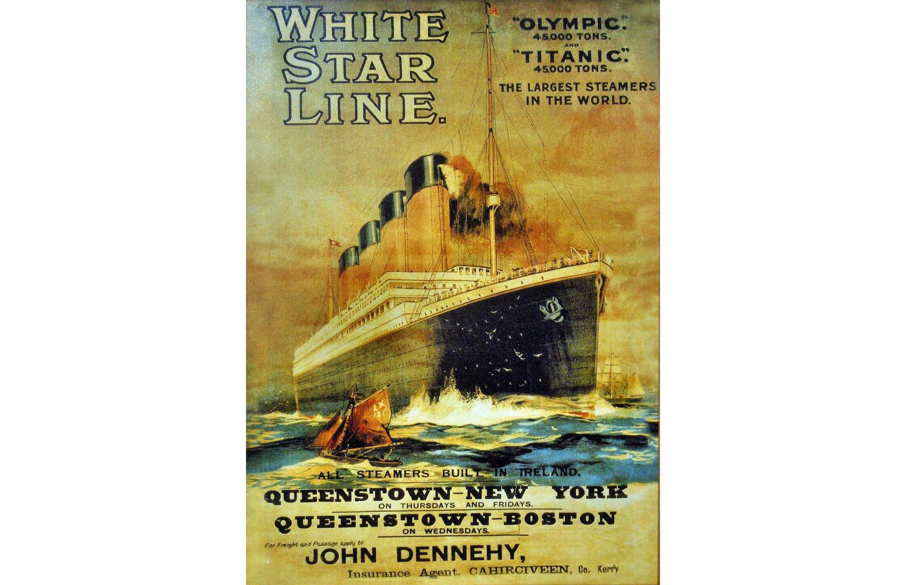 Slide 2 of 46: The Titanic was built during a golden age of sea travel. Growing numbers of immigrants to the New World and wealthier passengers during the early 20th century meant competition for business on Europe to New York sailingswas fierce. Plans were first laid for the Titanic (and her near-identical sister ships the Olympic and Britannic) in 1907 by the White Star Line. Other companies, including Cunard, already had popular passenger ships such as the RMS Lusitania and the RMS Mauretania, and the Titanic was designed to compete with these stars of the sea.