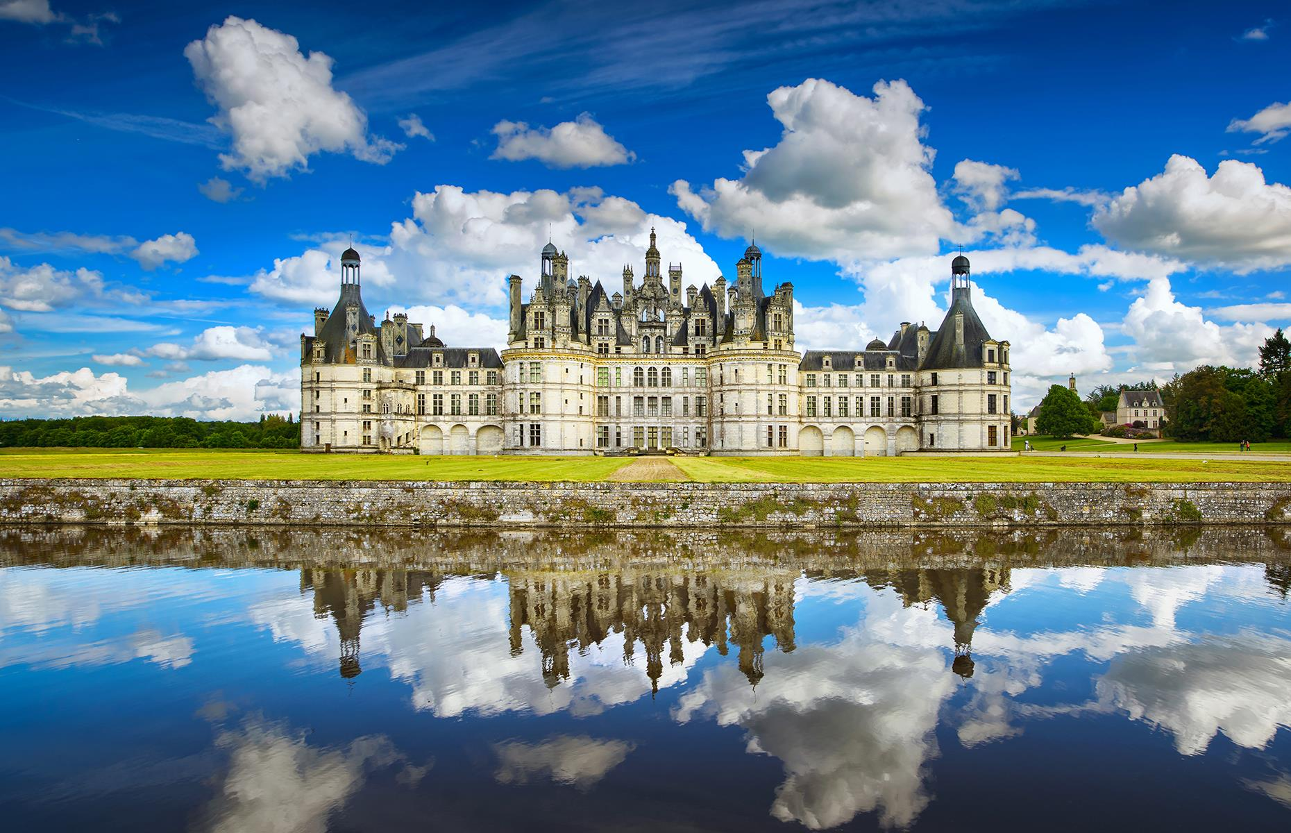 Slide 42 of 53: The enormous, breathtaking Château de Chambord, in France's Loire Valley, was completed in the 17th century and is a UNESCOWorld Heritage Site. Recognizable worldwide as an emblem of the French Renaissance, the châteauisn't just notable for its stunning architecture and lavish interiors, but also for its surrounding natural forest and French gardens.