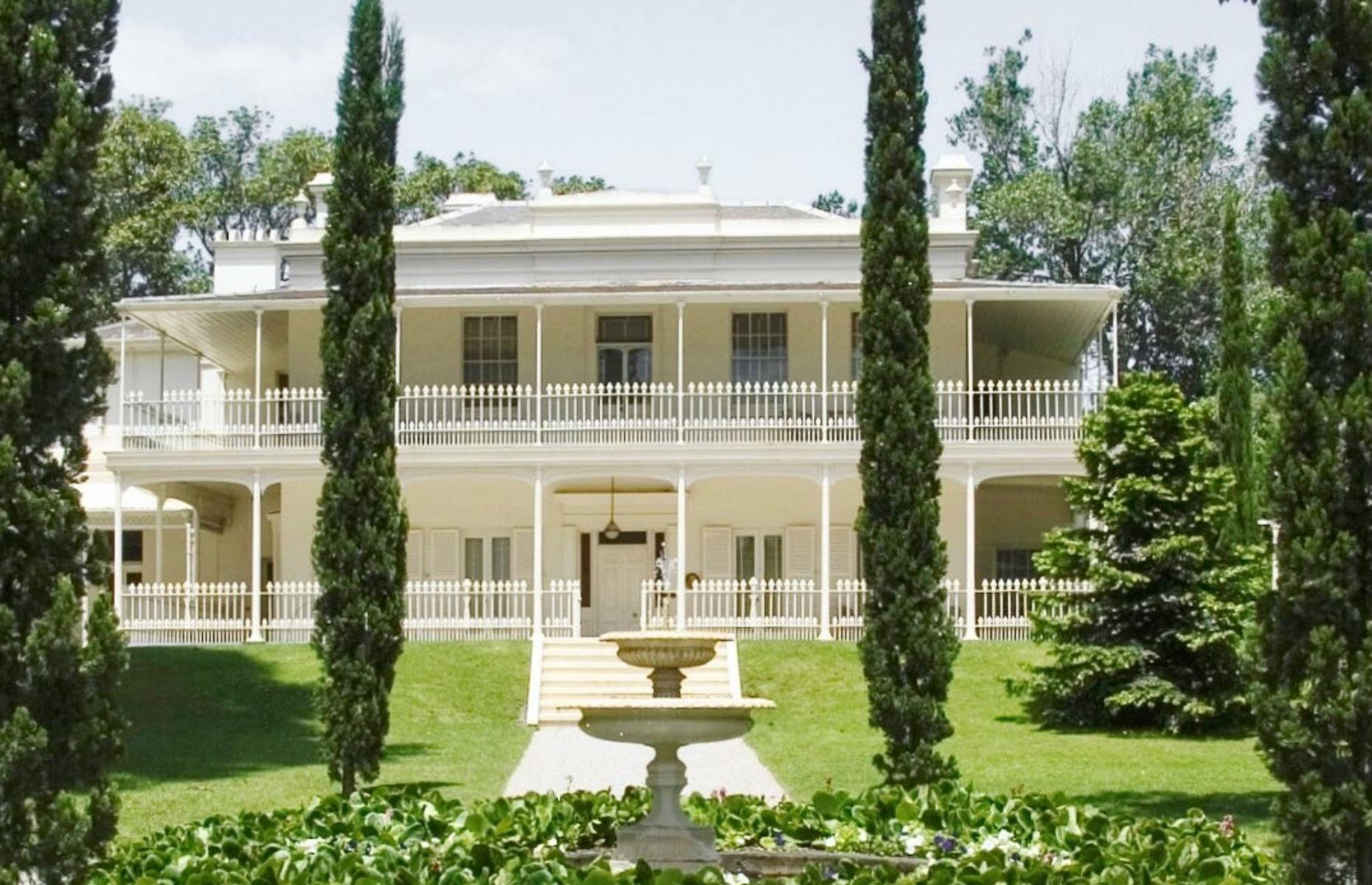 Slide 5 of 53: Elegant Como House, in Melbourne, is one of Australia's finest stately homes, built in 1847 and occupied by the Armytage family from 1864 to 1959. Now owned by Australia's National Trust, the building showcases a blend of Australian Regency and classic Italianate architecture.