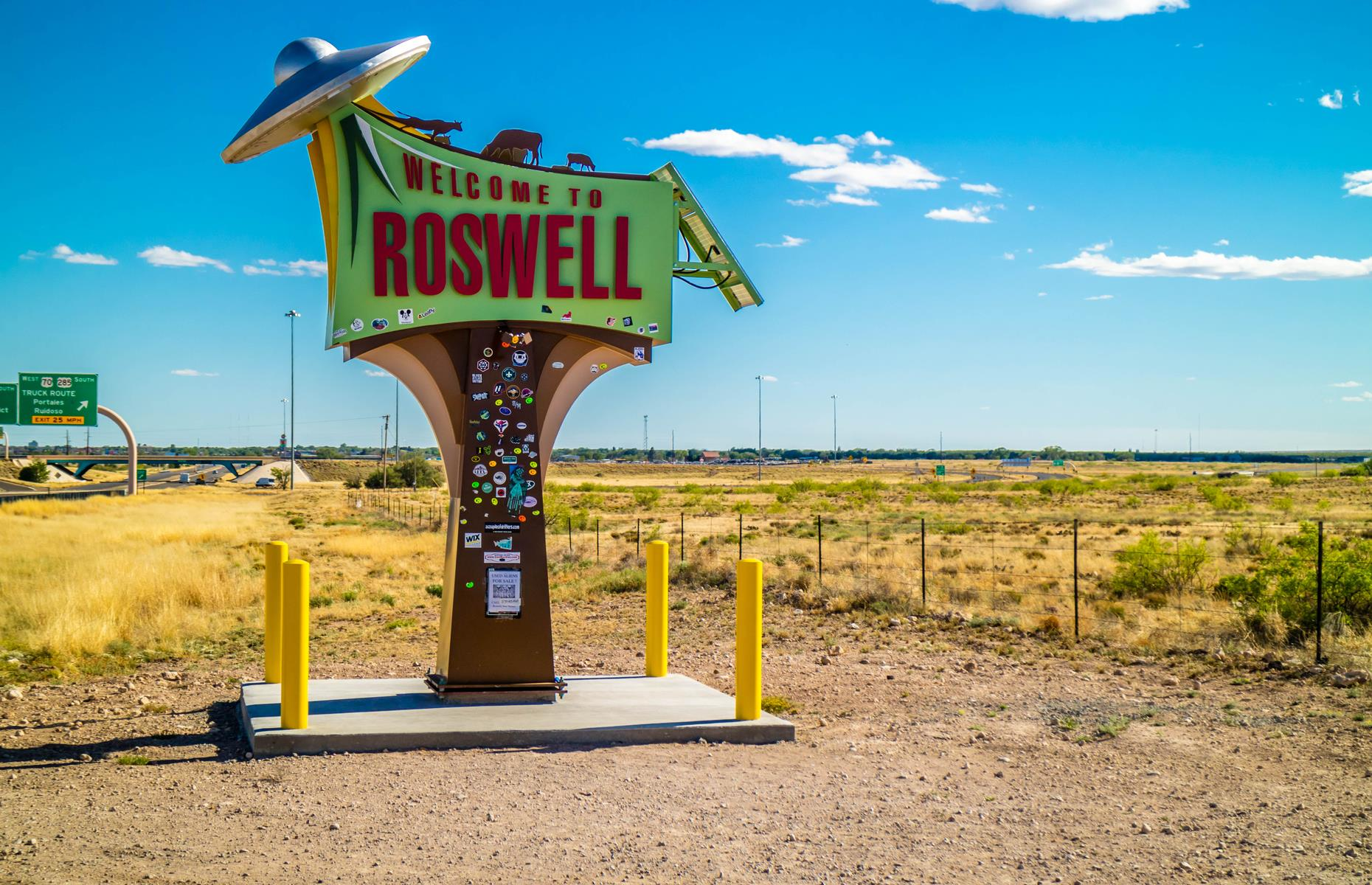 Slide 13 of 31: Roswell is perhaps the ultimate spot for alien conspiracy theories. The small New Mexico city hit headlines when, in 1947, a ranch worker claimed to have stumbled upon debris from a flying saucer crash. It was quickly explained as a weather balloon that crashed, although the rumors never died. Discover the most magical places on Earth here.
