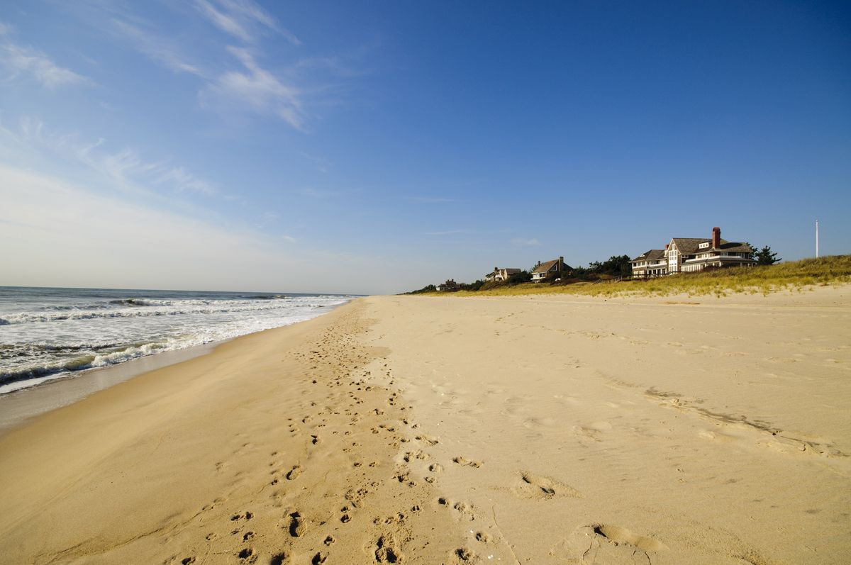 Slide 4 of 16: Named the best beach in the country in 2013, Main Beach in East Hampton is known for its wide stretch of sand plus a snack bar, bathrooms, and lockers. Keep in mind, though, that on-site parking is only available to village residents and as with many Hamptons-area beaches, daily parking passes have been suspended due to Covid-19.Shop Now The 1770 HouseShop Now The Mill House Inn