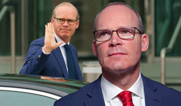 Simon Coveney, Simon Coveney are posing for a picture