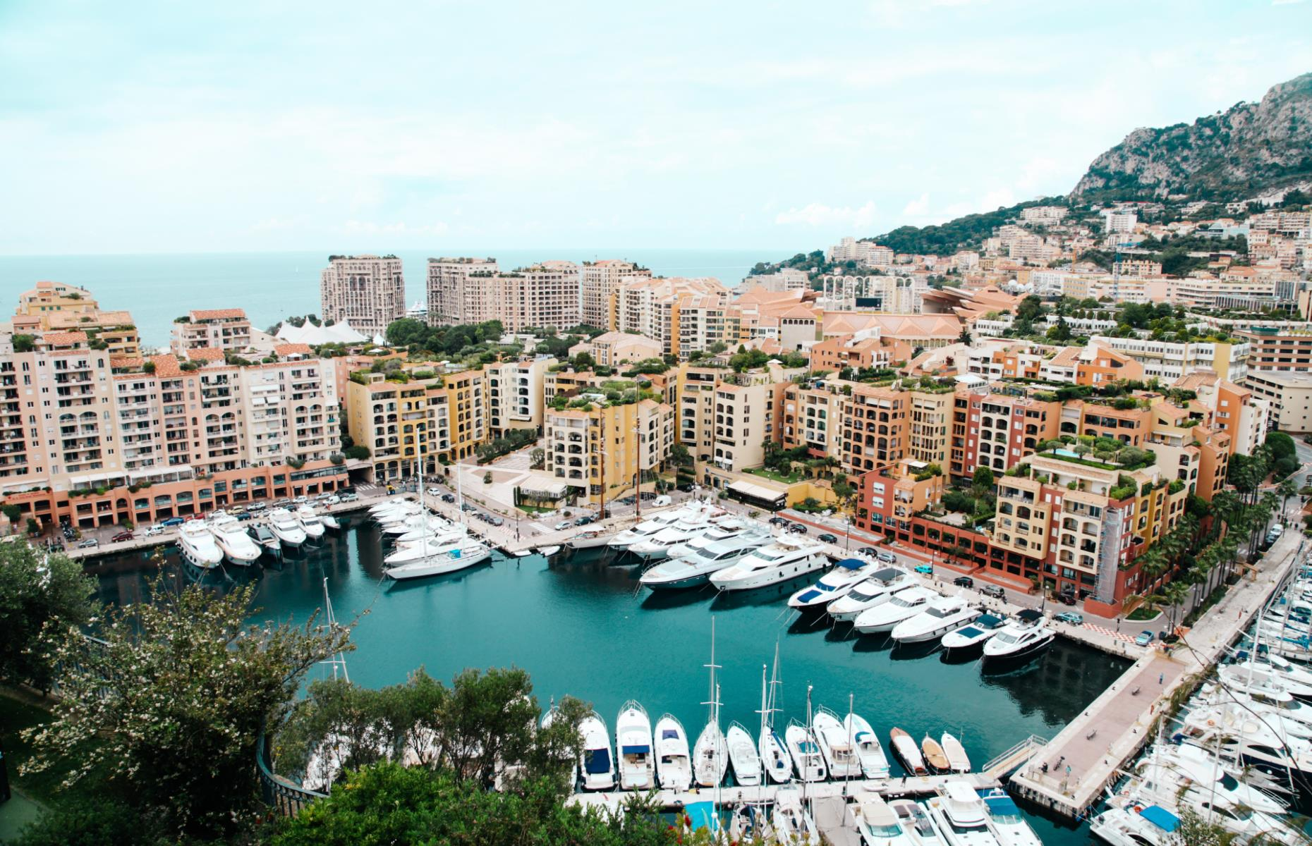 Slide 9 of 31: In the heart of glamorous Monaco, the small, enclosed Port de Fontvieille certainly provides its fair share of eye candy when it comes to luxury yachts. Set against Monaco's striking rocky hills, the waterside is also home to a number of bars, hotels and restaurants in which to kick back and gaze out at the view.