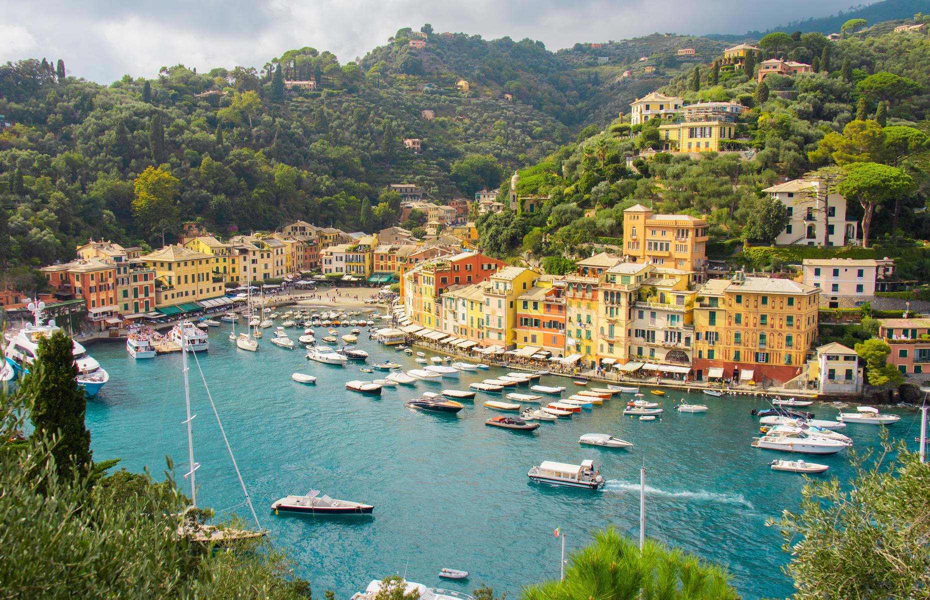 Slide 31 of 31: A former fishing village turned fashionable port town, Portofino draws in visitors with its pretty pastel-colored houses and honeysuckle-clad hills overlooking a dazzling harbor. Situated on its own peninsula on the northeast coast of Italy, it's the perfect spot for panoramic views over the Italian Riviera. These are Europe's most charming towns and villages.