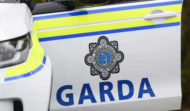 a close up of a sign: A Garda spokesperson said that the officers who arrived at the scene observed one man attacking another with a knife. Pic: Artur Widak/NurPhoto via Getty Images