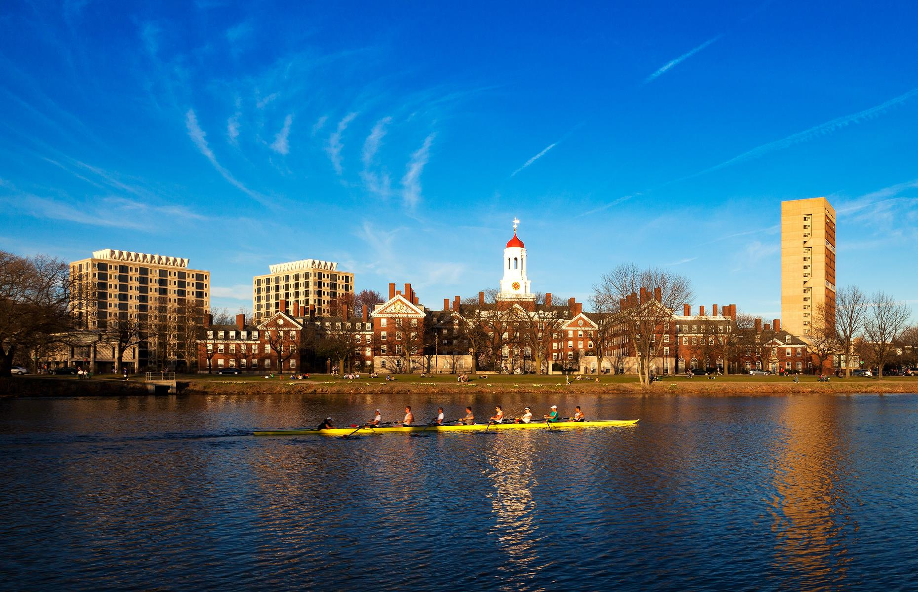 Slide 12 of 41: Just over the Charles River from Boston is Cambridge,home of Harvard University. The nation's first college, it was established in 1636 by Cambridge University alumnus John Harvard. Its student-led tours are a great way to hear the incredible history of these hallowed halls – at the moment only virtual tours are on offer. Harvard's prestigious alumni include numerous presidents: John Adams (the country's second president), John F Kennedy and Barack Obama to name just a few.