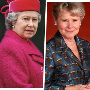 Elizabeth II, Imelda Staunton are posing for a picture: Getty Images