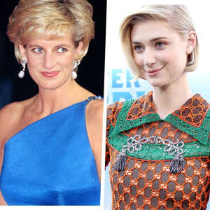 Diana, Princess of Wales, Elizabeth Debicki are posing for a picture: Getty Images