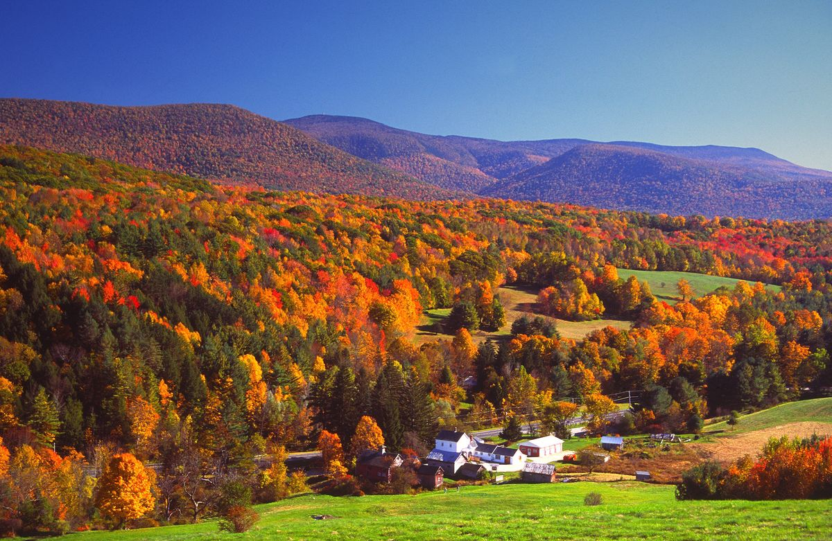 """Slide 7 of 11: While the Berkshires offer plenty to see, do, and experience in the summer, the region also shines just as brightly in the fall. October brings peak """"leaf peeping"""" season and the best way to take in the foliage is by renting a car for a 63-mile drive along the Mohawk Trail that culminates in North Adams. So is hiking to the summit of Mount Greylock, which, at 3,489 feet, is Massachusetts's highest point. Though it lays claim to the title of """"smallest city in the state,"""" North Adams has plenty to offer. For starters, there's the largest contemporary art museum in the country—the Massachusetts Museum of Contemporary Art (better known as MASS MoCA)—and a plethora of bookshops, cafes, and galleries. Book a room at The Porches Inn, a B&B that's a stone's throw from the museum. Also nearby is TOURISTS, a 48-room riverside hotel that offers nice views, sleek design, and activities like yoga and tie dying classes. Shop Now Porches Inn Shop Now TOURISTS"""