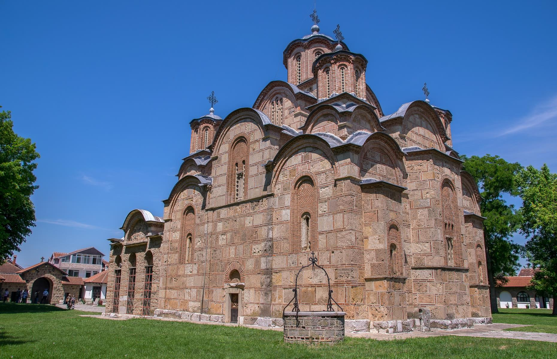 "Slide 38 of 53: Four Serbian Orthodox monasteries that ""reflect the high points of the Byzantine-Romanesque ecclesiastical culture"" make up the UNESCO World Heritage Site in Kosovo. The interiors of Dečani monastery, Patriarchal Monastery of Peć, Our Lady of Ljeviš and Gračanica monastery are adorned with vibrant frescos, a style which developed in the Balkans between the 13th and 17th centuries. It is on the World Heritage in Danger list due to difficulties in its management and conservation stemming from the region's political instability."