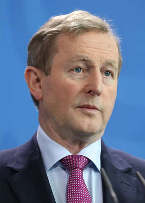 Enda Kenny wearing a                     suit and tie: Enda Kenny will front an                     Irish-language television series on RTÉ about old                     railway routes. Pic: Sean Gallup/Getty Images