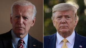 Joe Biden, Donald Trump are posing for a picture