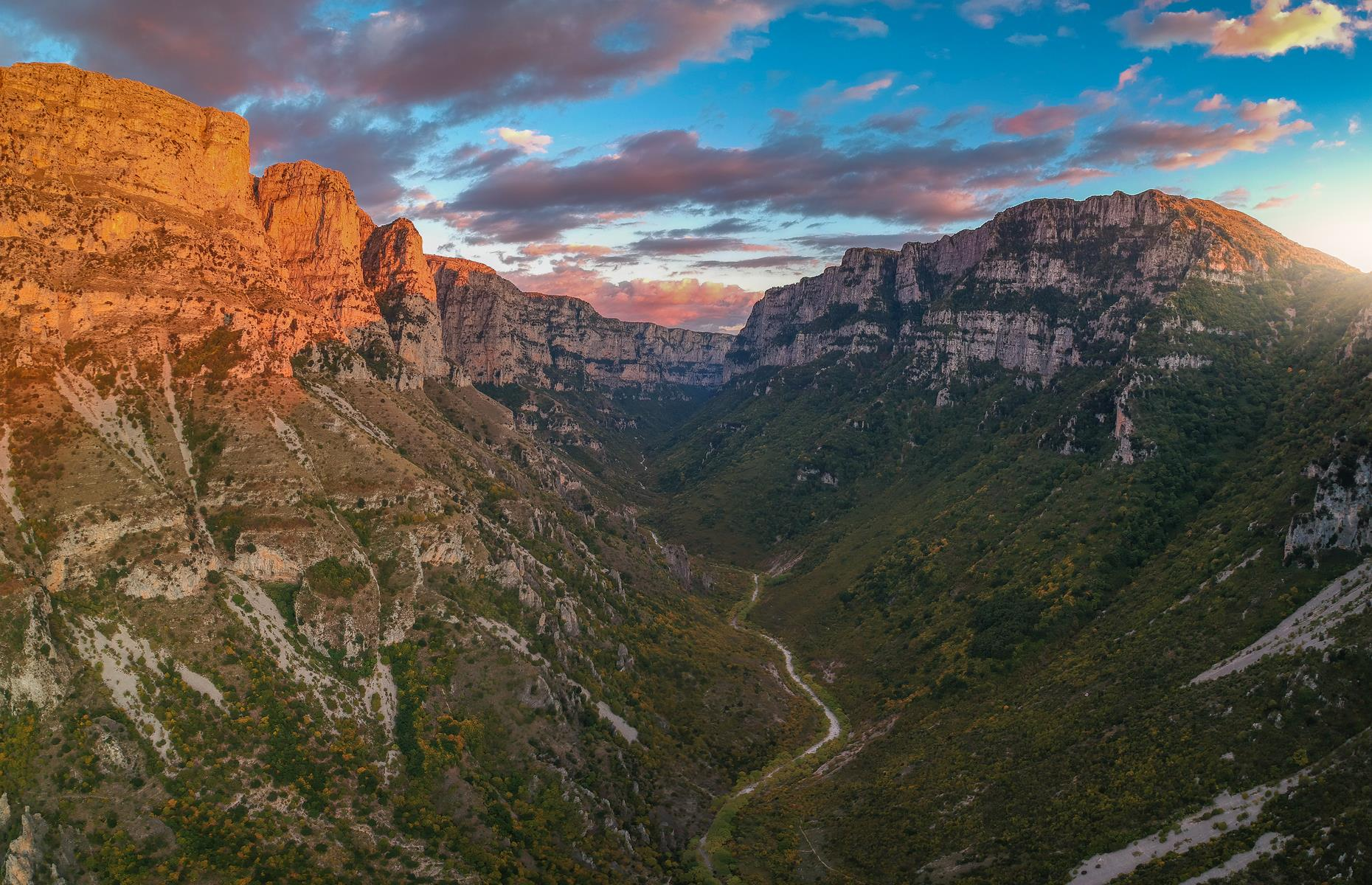 Slide 22 of 31: Established 1973, Vikos National Park is flecked with deciduous and coniferous forests, and covers 49 square miles (127sq km) of northeast Greece, near the Albanian border. It's remote, with Thessaloniki reachable in three hours. However, it's worth the trip with Vikos celebrated for its breathtaking Vikos Gorge, plus interesting rock formations like the Stone Forest.