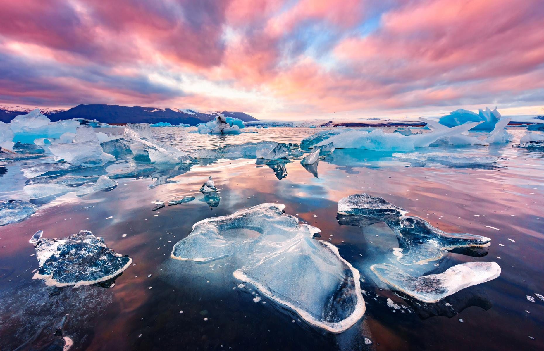Slide 28 of 31: To the Land of Fire and Ice: Iceland. There you'll find the 5,460-square-mile (14,141sq km) Vatnajökull National Park, the largest in Europe. A UNESCO World Heritage Site that can be reached in around four hours from the capital city, Reykjavik, this chilly playground is found in south Iceland around the Vatnajökull glacier, which itself covers 8% of Iceland's land mass.