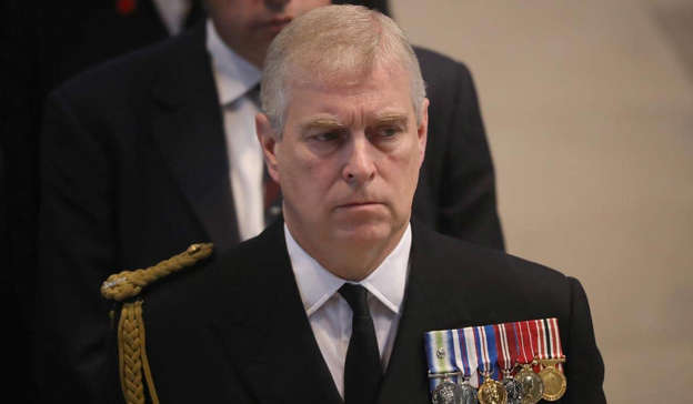 Prince Andrew, Duke of York wearing a suit and tie: Andrew was the subject of allegations of sexual assault, which were made by Virginia Giuffre, in a lawsuit filed in New York in recent weeks. Pic: Christopher Furlong – WPA Pool/Getty Images)