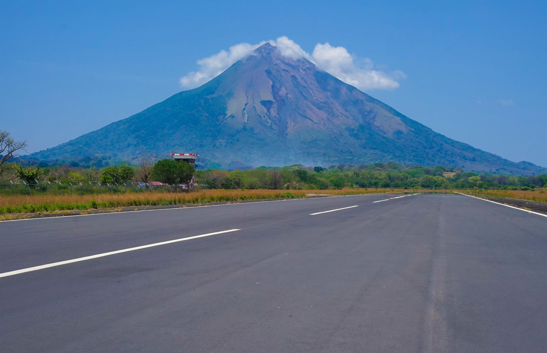 Slide 25 of 36: With the looming cone-shaped Concepcion volcano at the end of its runway, this tiny airport on Ometepe Island in Lake Nicaragua also has a pretty spectacular setting. The airport opened on the island in 2014 and provides a gateway to the gorgeous beaches, walking trails and towering volcanoes.