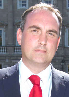 Marc MacSharry wearing a suit and tie: Rebel Fianna Fáil TD Marc MacSharry has claimed that the Micheál Martin leadership project had simply failed. Pic: Leon Farrell/RollingNews.ie