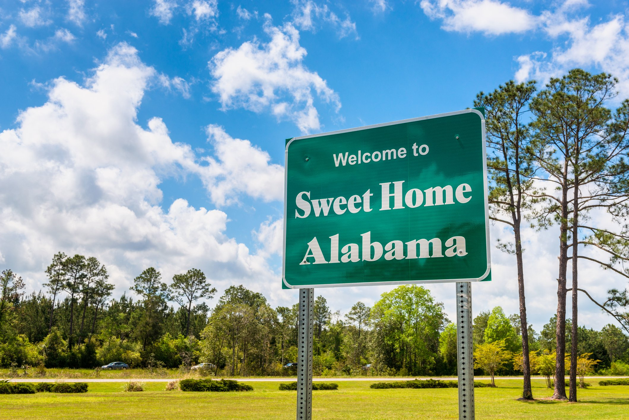 """Slide 2 of 51: Fun fact: Alabama has the largest snail population in the country. Forty-three percent of all the snails in the United States reside in Alabama. This may even be more notable than the state sign referencing the 1974 song by Lynyrd Skynyrd, """"Sweet Home Alabama."""" Take a look at the best family travel destination in each state."""