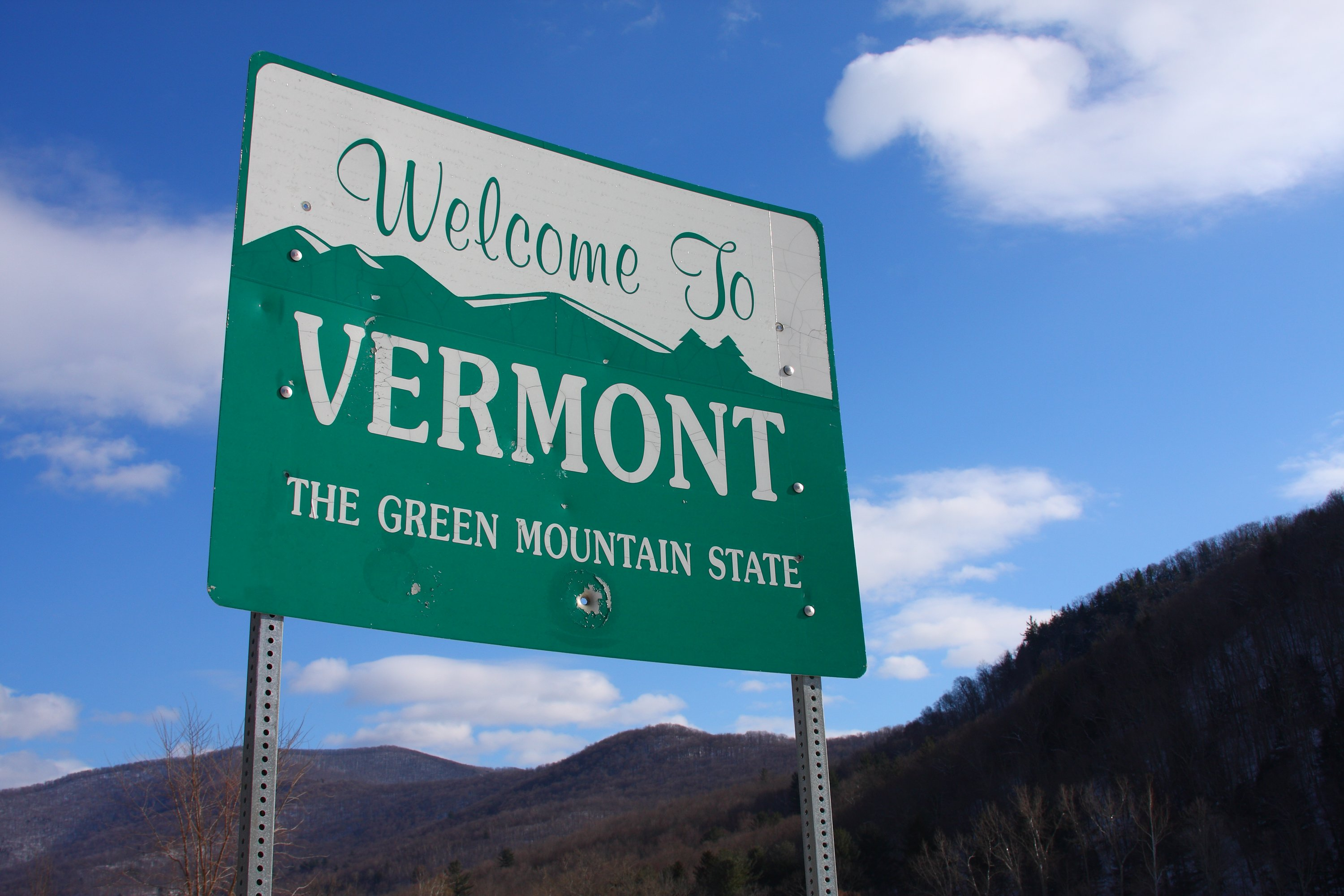 Slide 46 of 51: Vermont welcomes visitors with its green mountain slogan, but it is also known for maple syrup.
