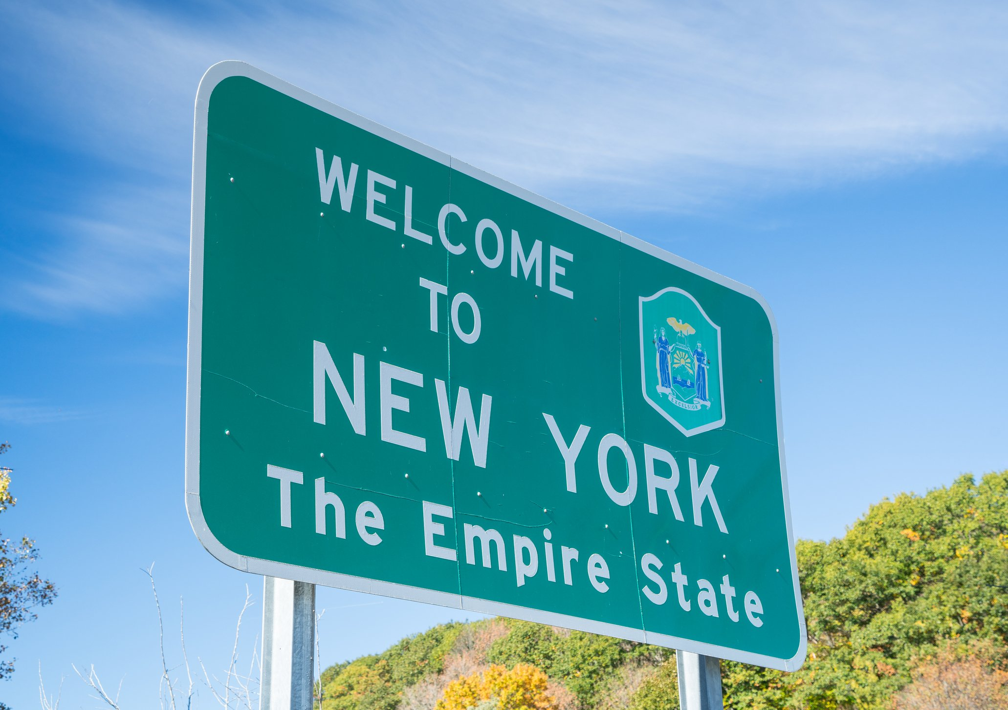 Slide 33 of 51: New York is arguably the most exciting state of them all, but unfortunately has one of the dullest looking signs. See 15 hidden New York City gems that most New Yorkers don't even know about.