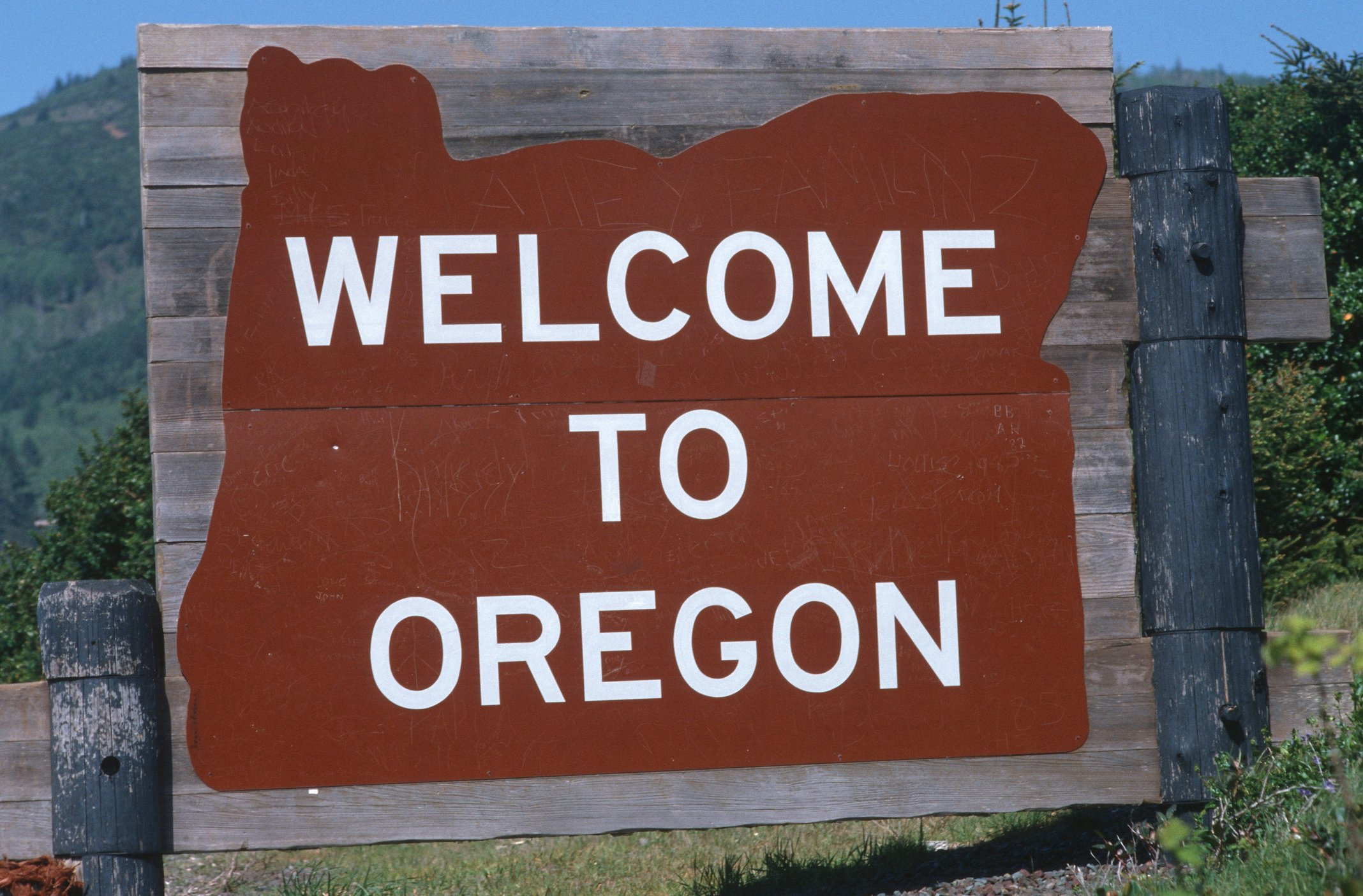 Slide 38 of 51: Oregon has a more rustic design to match the natural beauty of the state.