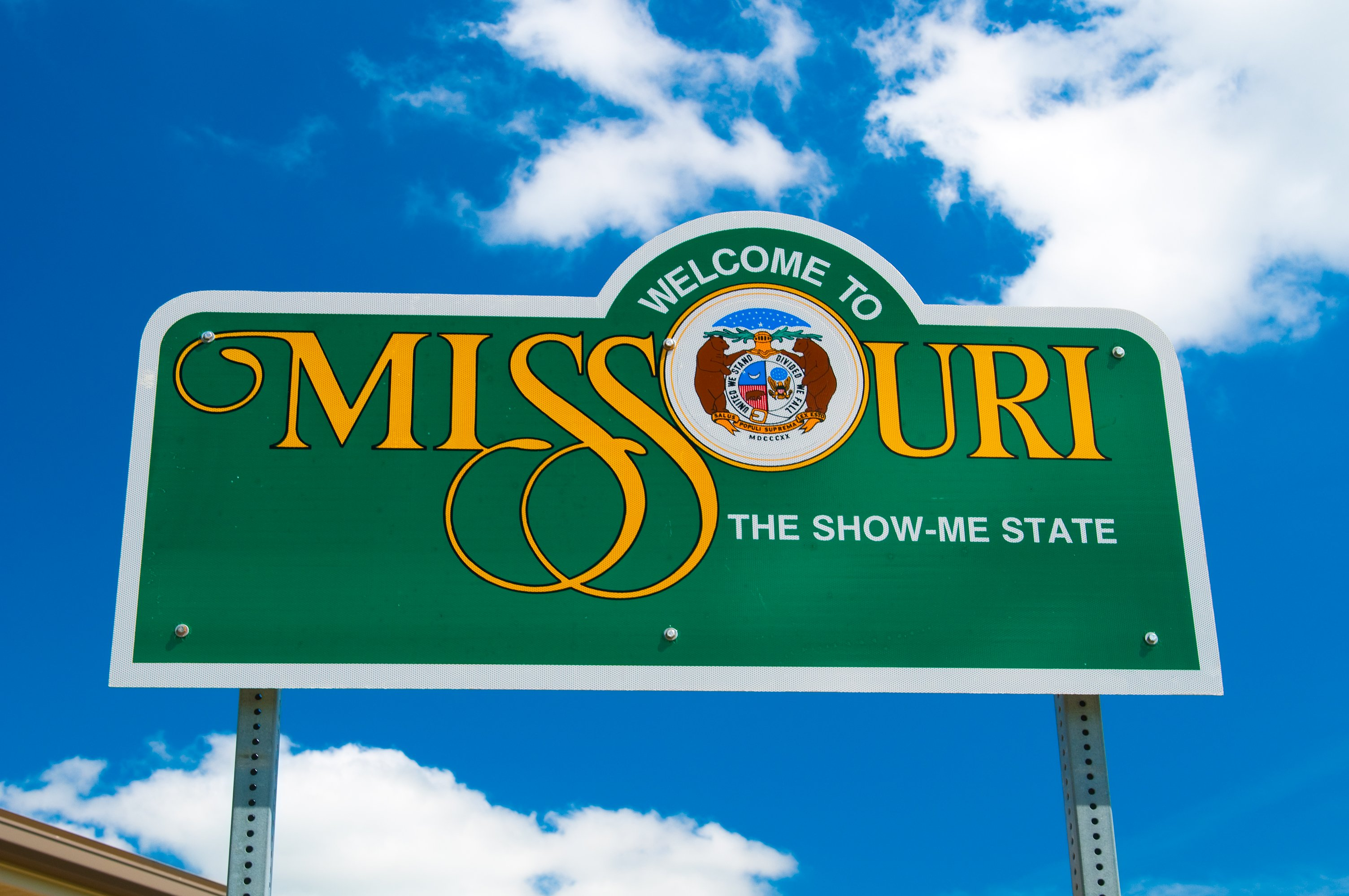 Slide 26 of 51: Missouri is bordered by eight states, making it the most neighborly state in the country along with Tennessee.