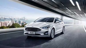 a car parked on the side of a road: 2020 Ford Mondeo facelift (China-spec)