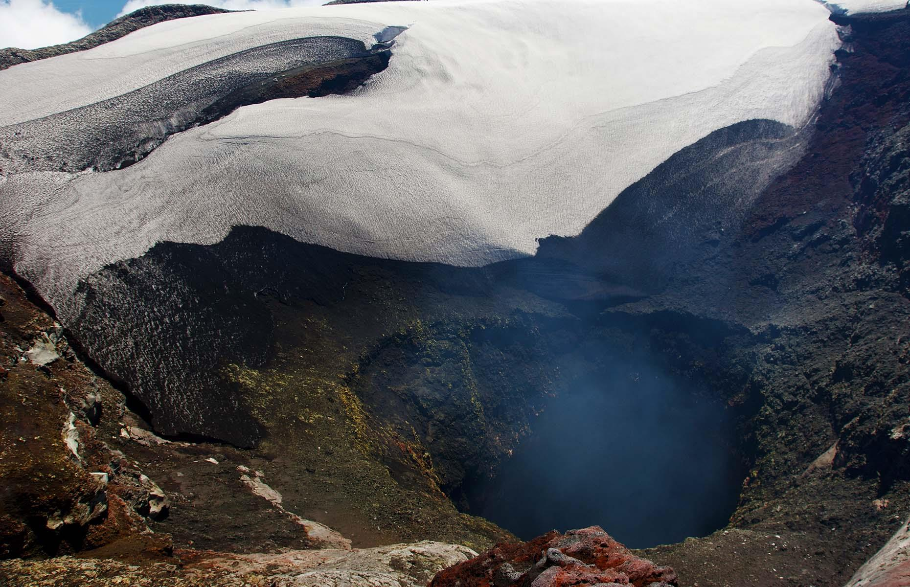 Slide 21 of 41: Villarrica was closed for expeditions in 2015 when an eruption blasted out ash and lava and caused more than 3,000 people to be evacuated from nearby homes. In 2019 before the coronavirus pandemic it reopened and offered travelers an option to use a ski lift part way up and then tackle the snow and ice to reach the summit at 9,380 feet (2,860m).