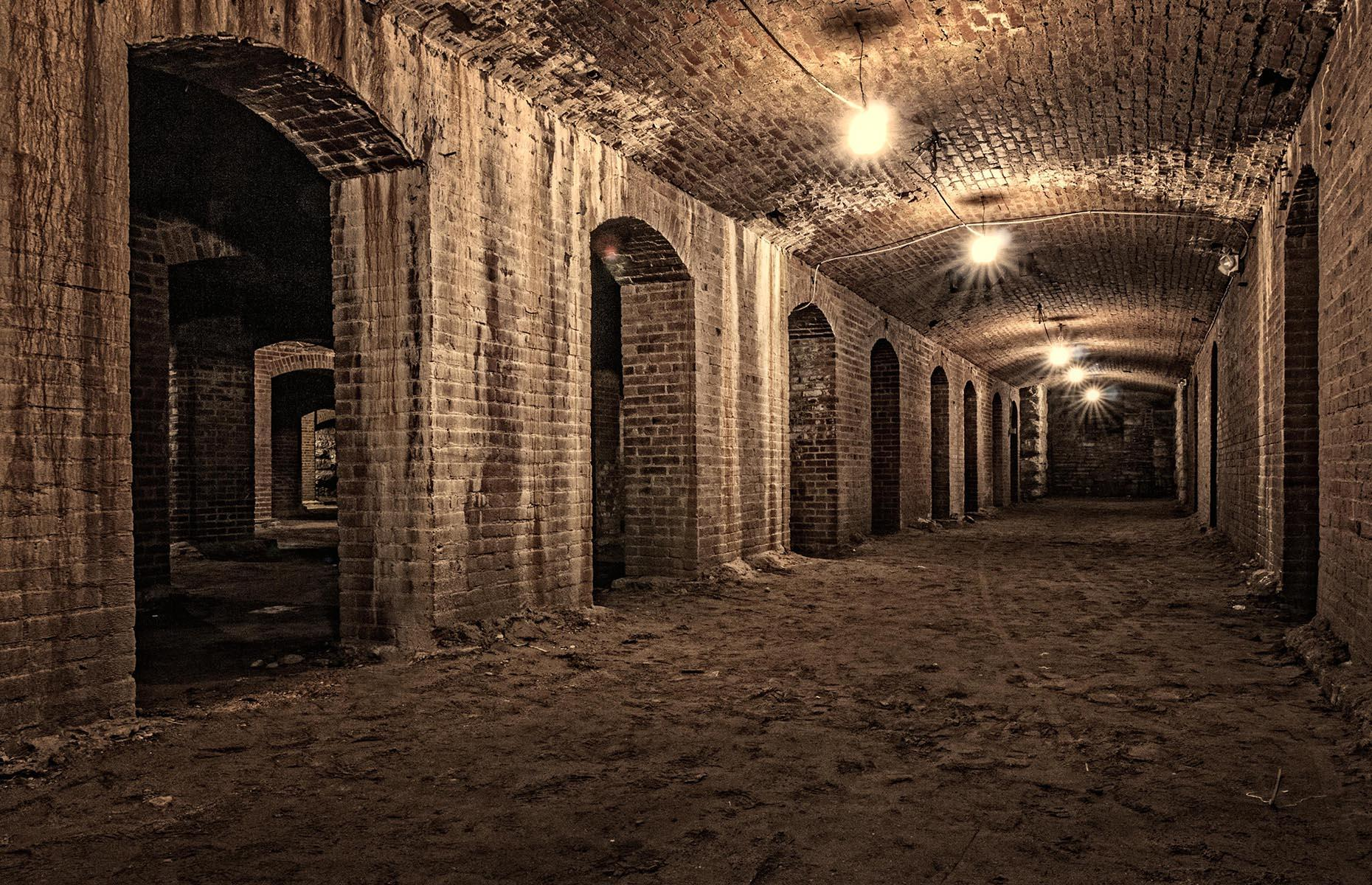 Slide 3 of 27: Delve beneath the buzzing cafés of City Market in Indianapolis and you'll find an eerily quiet network of catacombs, stretching for 22,000 square feet (2,044sqm). The limestone and brick arches and pillars were originally the basement of Tomlinson Hall, a vast municipal building that was demolished after a fire in 1958. Note that due to COVID-19, organized tours are limited and subject to change.
