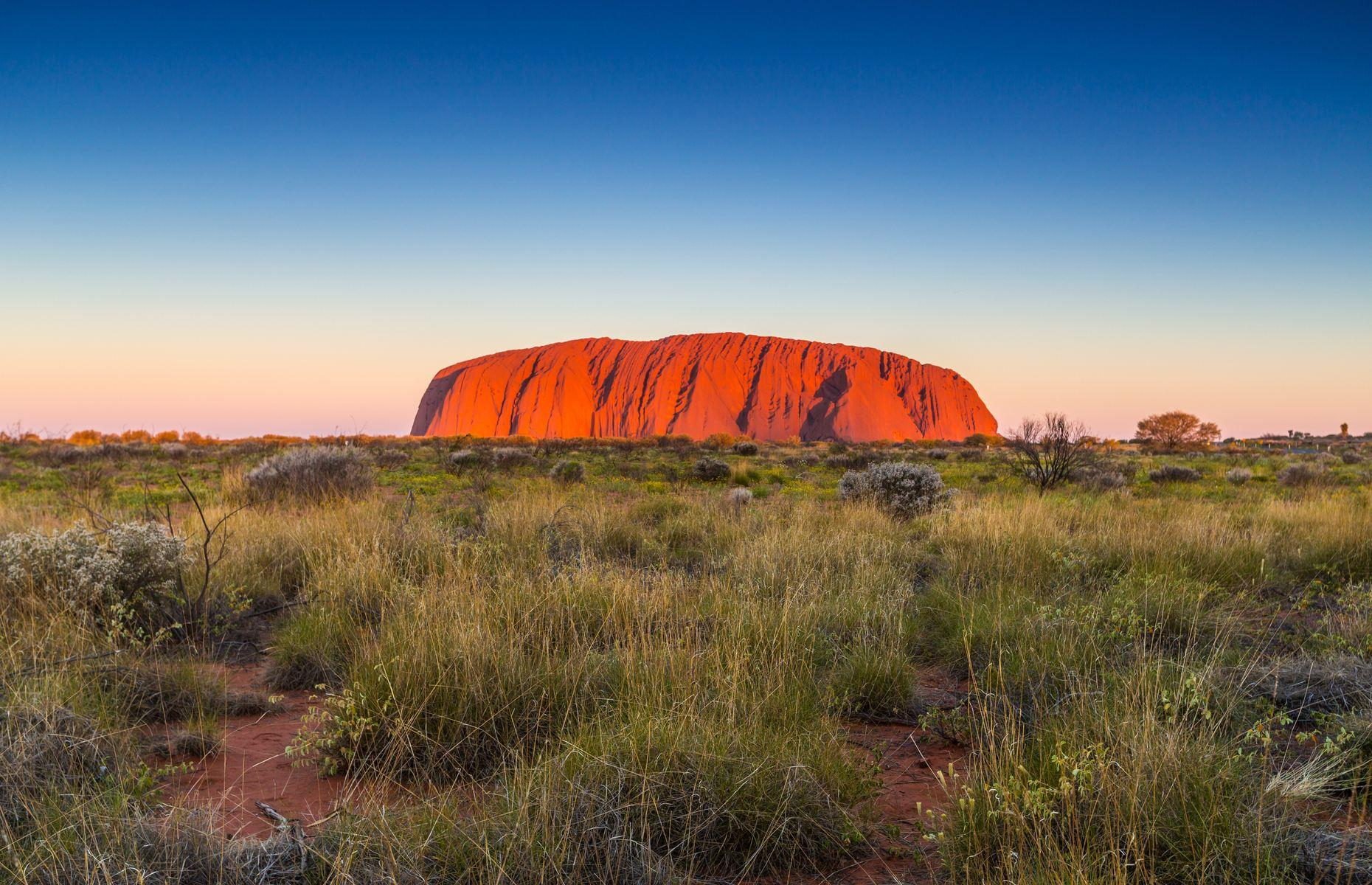 Slide 16 of 31: Earning over 395,000 posts, Uluru-Kata Tjuṯa National Park is home to one of Australia's most iconic landmarks and lies in the middle of Central Australia's outback. Formerly known as Ayers Rock, Uluru is a mighty 1,142-foot-high (348m) red sandstone monolith roughly half a billion years old. The eye-catching rock is a sacred site for the guardians of the land known as the Aṉangu people and is regarded as one of the world's most amazing natural wonders. Discover more of Australia's stunning natural wonders here.