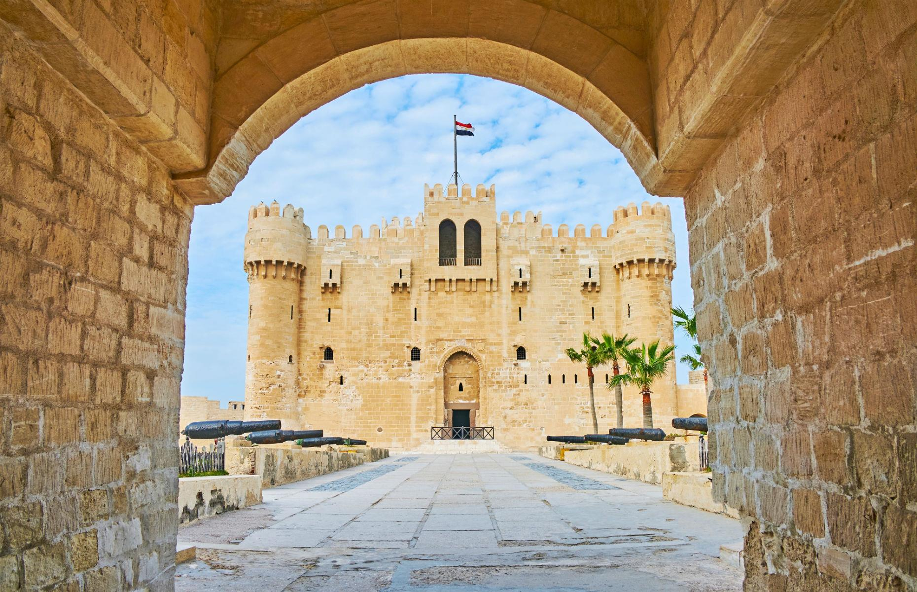 Slide 54 of 61: Built in the 15th century, this citadel was designed to protect the kingdom of Alexandria in the country's north. It is believed to have been erected on the same spot as the city's famous Lighthouse, one of the Seven Wonders of the Ancient World.