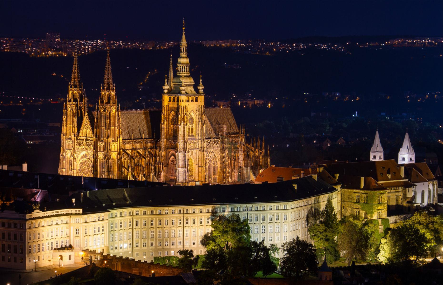 Slide 16 of 61: Prague Castle is quite the feat. Covering an area of around 750,000 square feet (69,677sq m), the complex is one of the largest of its kind in the world, home to Gothic-style St Vitus Cathedral, as well as several other churches. Dating from the 9th century, the site acts like an architectural textbook for the last millennium and, unsurprisingly, is a UNESCO World Heritage Site.