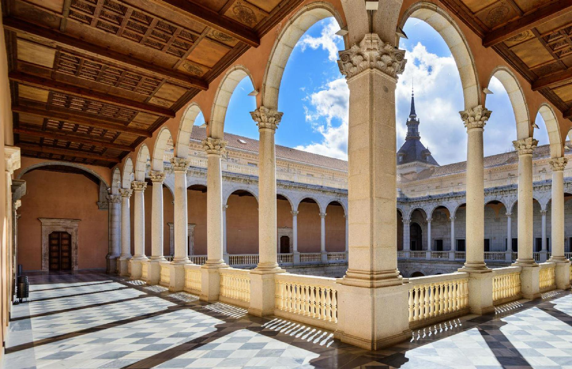 Slide 5 of 61: The Alcázar was painstakingly rebuilt and restored throughout the 1940s and is now the site of the Castilla-La Mancha Regional Library and a military museum. The light-drenched interior courtyard is one of the most beautiful parts of the site.
