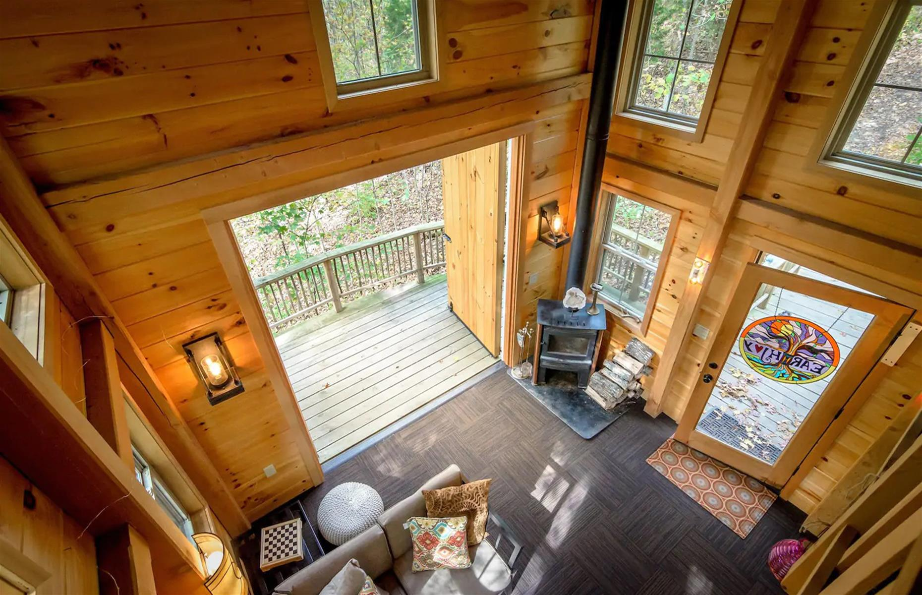 Slide 19 of 52: For an off-grid experience, book an escape at this remote treehouse in rural Kentucky. It has all the amenities guests might need during a stay at this rustic haven. It may be tempting to hunker down but make sure to explore the gorgeous surrounding area – it's great for trekking, hiking and horseback riding. The towns of Augusta and Maysville are also nearby.