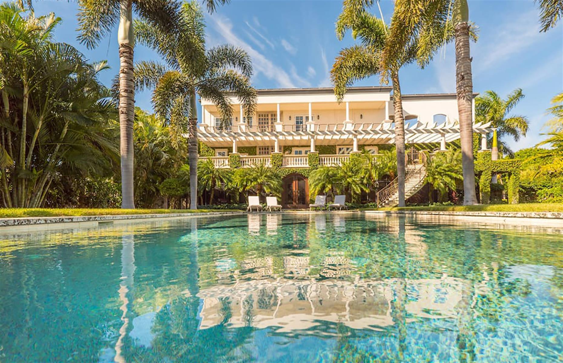 Slide 11 of 52: Make the most of your time in the Floridian sunshine at the opulent Boca Grande Island Estate. The sumptuous five-bedroom home is surrounded by tropical gardens, creating a secluded oasis for winding down by the pool. If you prefer a more active vacation, there's private access to the beach, plus fishing equipment, snorkeling gear and bicycles are free to use.