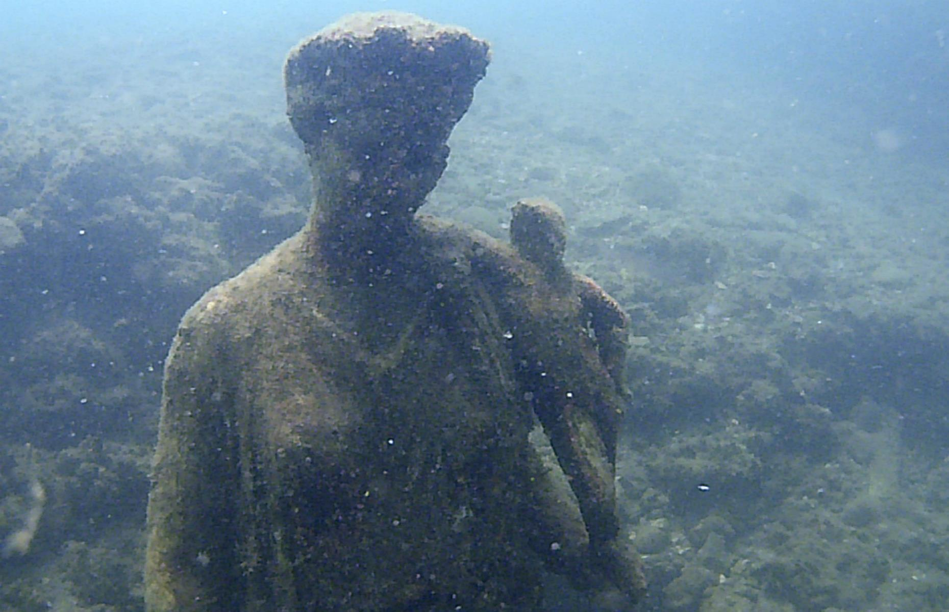 "Slide 4 of 25: Baia has even been described as ""the Las Vegas of the Roman Empire"" due to the hedonistic happenings there. This was where the highest echelons of ancient Roman society came for parties and blowing off steam. Surviving statues – some headless, others remarkably intact – now scatter the seabed."