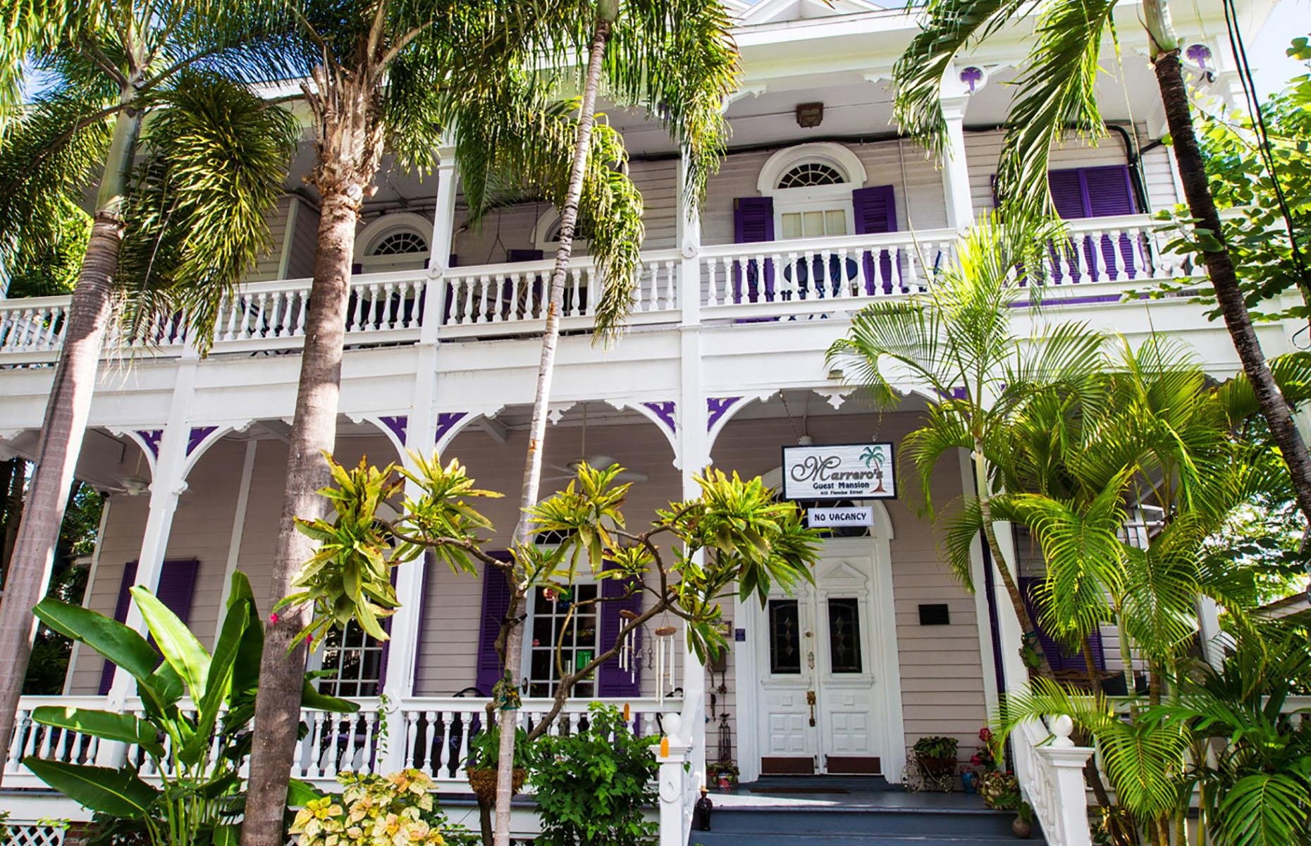 Slide 11 of 52: A Victorian mansion in the tropics? Yes, that's Marrero's. This lively B&B celebrates Key West in all its quirky glory – guests can typically expect access to a saltwater pool and fragrant gardens, as well as a daily happy hour on the front porch. Beyond the front door and just around the corner unfolds Duval Street, the main drag of one of Florida's – if not the country's – most colorful, rebellious islands. You can find travel advisories for the Keys here.