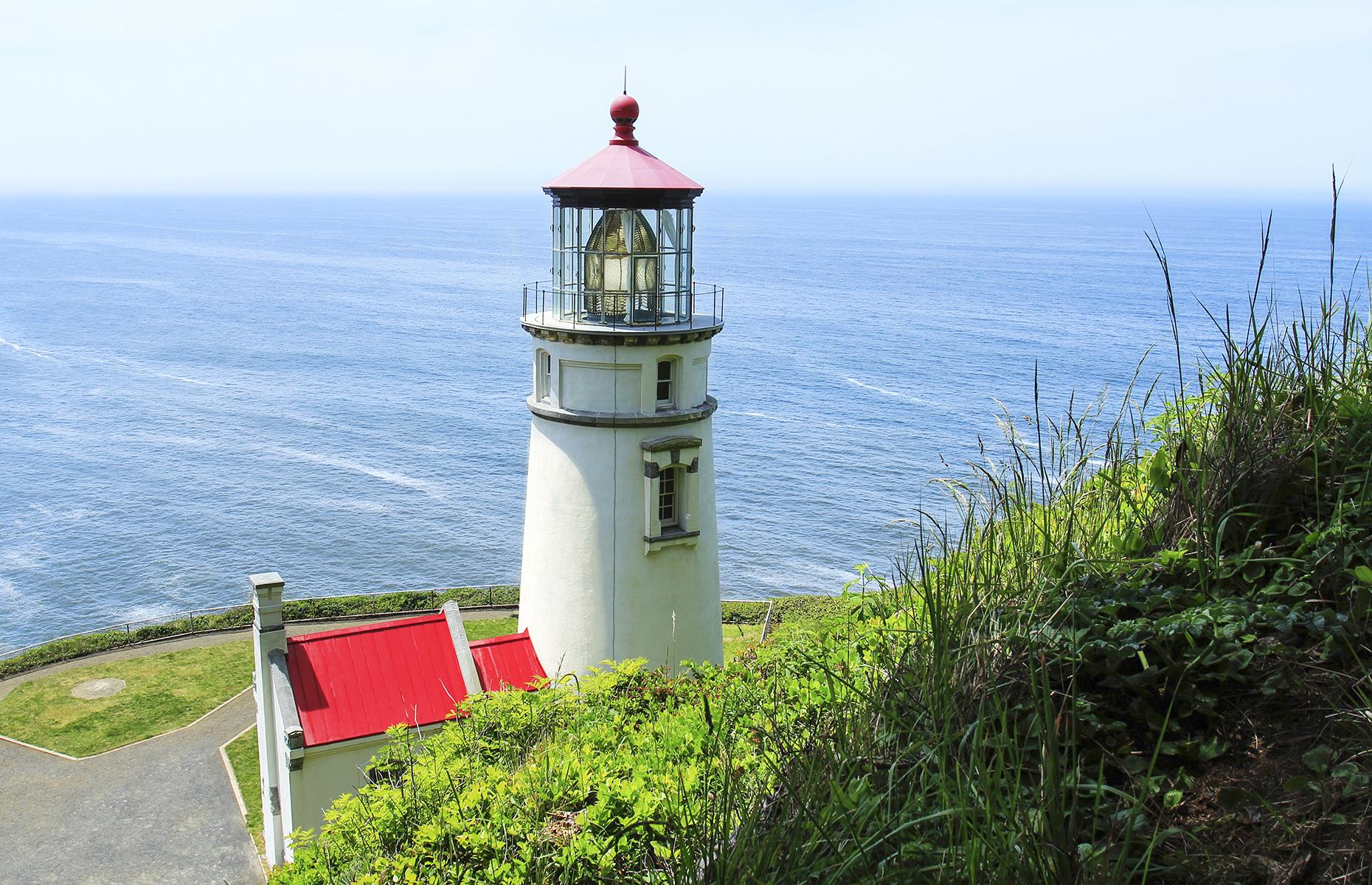 Slide 39 of 52: This beautiful B&B shares its cliffside location with one of Oregon's most famous lighthouses: Heceta Head (pictured). The bed and breakfast, housed in the Heceta Head lightkeeper's home, commands stunning views of the Pacific Ocean, and offers access to the beach and lighthouse via a sloping path. The lovely rooms each have their own special angle on the surrounding landscape – of waves crashing on basalt rocks, the lighthouse piercing the sky, or the sun-dappled garden. Breakfast isn't just fruit and cereal, either – it's seven courses that includes local sausages, pungent cheeses and more. The website has details on current operational changes, including the availability of meals to go.