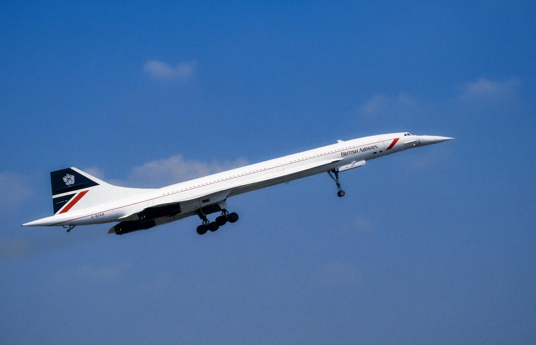 Slide 26 of 35: Concorde is the ultimate iconic airliner. A joint effort between British and French aero-engineering firms saw the world's first and only supersonic airliner take off 50 years ago in March 1969. Traveling faster than the speed of sound, Concorde could fly from London to New York City in just four hours. For three decades, it looked to change the world of air travel drastically with its luxurious, high-speed service. But in 2003 operation ceased and many of the aircraft are now on display in museums around the world, including in Bristol, England and Toulouse, France.