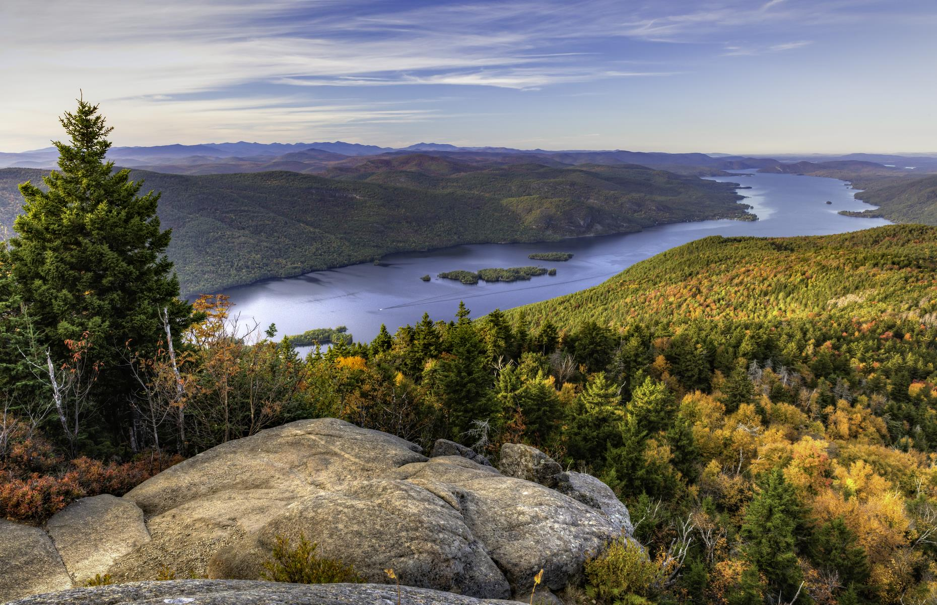 "Slide 20 of 31: Lake George is nicknamed the Queen of American Lakes and Thomas Jefferson, the USA's third president, described it as ""the most beautiful water I ever saw"". As this photo proves, the natural wonder, which glistens at the base of the Adirondack Mountains, lives up to the hype."