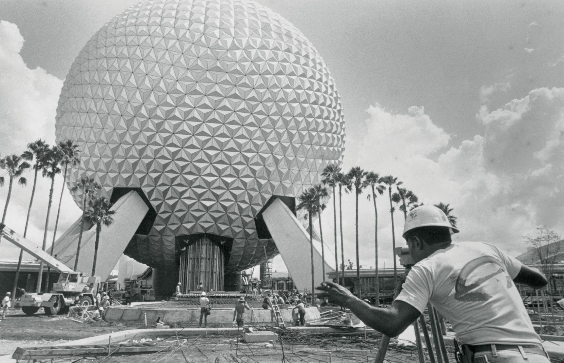 """Slide 47 of 51: Walt Disney World in Florida opened on 1 October 1971 and greeted 10,000 eager fans on its first day. Initially, the resort was made up of six individually themed lands: Main Street USA, Adventureland, Fantasyland, Frontierland, Liberty Square and Tomorrowland. In 1982, Epcot (pictured here under construction) opened, and its name initially stood for """"Experimental Prototype Community of Tomorrow"""". Walt Disney World usuallyattracts more than 52 million people a year, making it the most visited vacation resort in the world."""