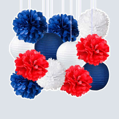 Slide 1 of 10: Get maximum use out of your decorations for even non-patriotic holidays. This set of pom poms and paper lanterns is easy to assemble, and its colors can be mixed and matched for any future party regardless of whether the theme is red, white, and blue. In case you don't know, this is why we celebrate Labor Day. Shop Now